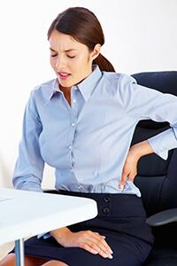 back pain office girl