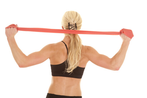Shoulder exercise girl